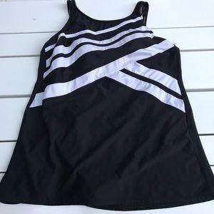 Delta Burke one piece bathing suit swimwear 18w